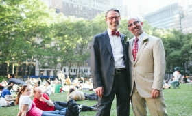 Gay Wedding in Bryant Park NYC // Brian + Ted