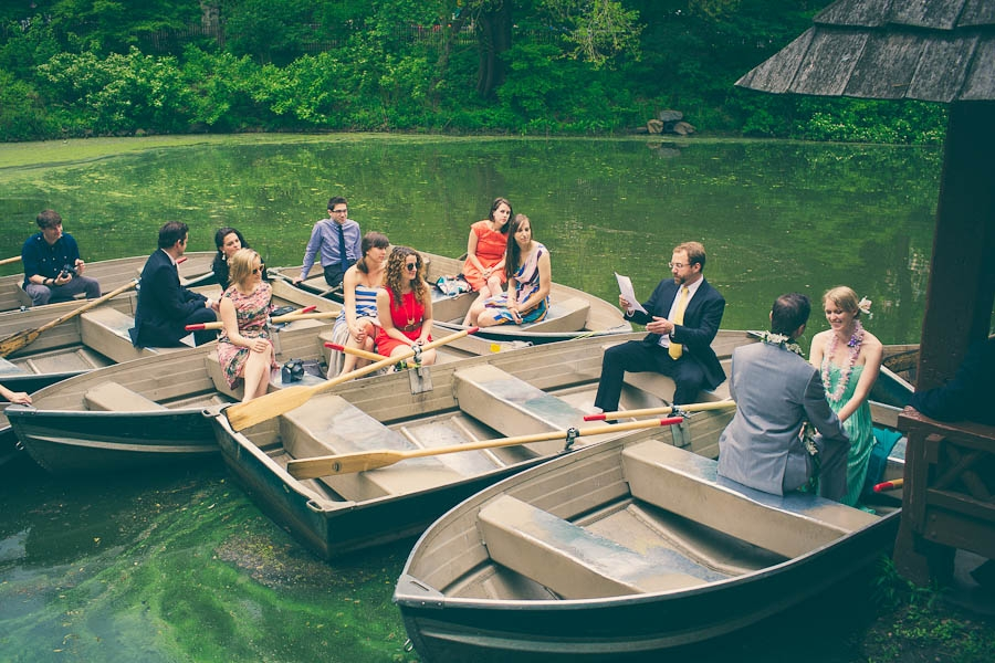 Unique Central Park Wedding In Rowboats New York Erica Camille